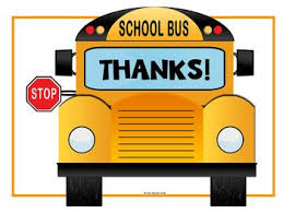 Thank You sign on side of school bus