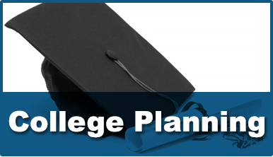 College planning with graduation hat
