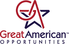 Great American Opportunities Red and Blue Logo