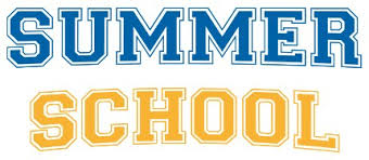 Summer School Varsity Letters in Blue and Yellow
