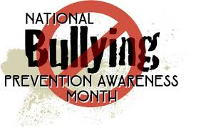National Bullying Prevention Month with word bullying crossed out