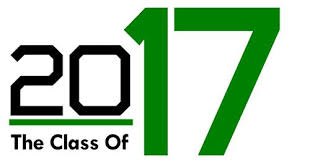 Class of 2017 wording in green