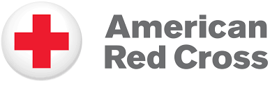 American Red Cross word with red cross