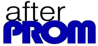 After Prom Word Logo in Black and Blue
