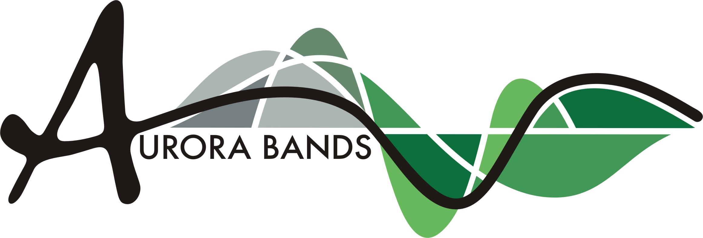Aurora Band Logo in green and grey