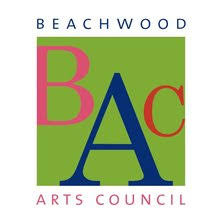 Beachwood Art Council letter logo with green background