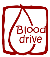 Red Blood Drop with Blood Drive Wording
