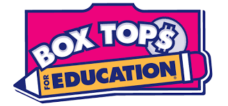 Box tops for education pencil logo  in pink and yellow
