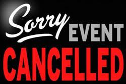 Sorry Event Cancelled in Red