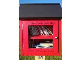 Red Little Free Library Box