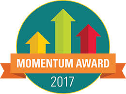 Momentum Award Logo with Upward Arrows