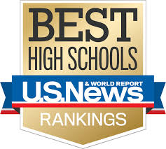 US News & World Report High School Gold Emblem Logo