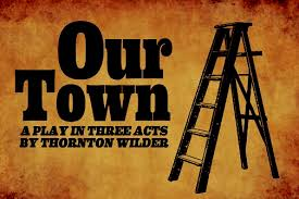 Our Town Play Cover with Ladder