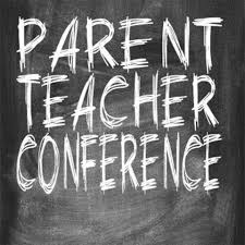 Parent Teacher Conferences in chalk on chalkboard