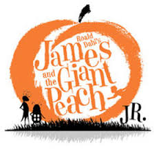 James and the Giant Peach Jr. Logo in orange