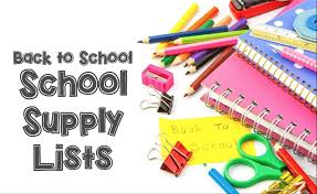 Back to School Supply Lists with supply photo