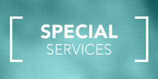 Special Services Word over beige background