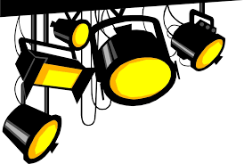 Clip Art Spotlights Black and Yellow