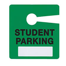 Student Parking Pass Green