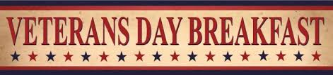 Veteran's Day Breakfast Banner in red