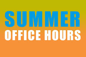 Summer Office Hours Wording in Bright Colors