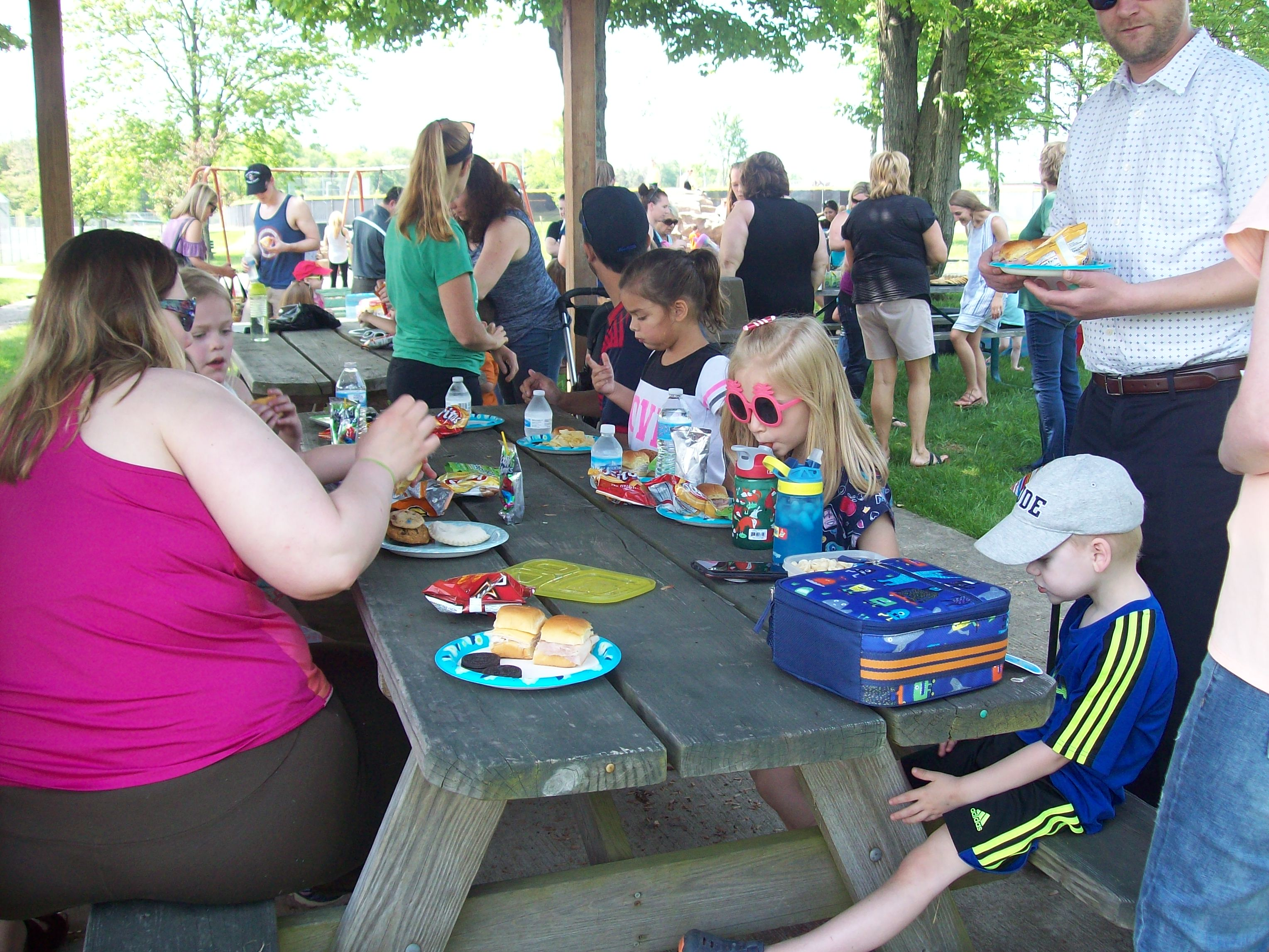 Photos from the Miller Preschool Students Enjoying the End of School Year Picnic at Kiwanis Moore Park Next to the Fire Station in Aurora